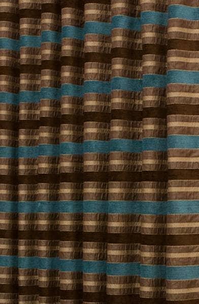 Brown And Teal Curtains Elara Teal Curtain Fabric