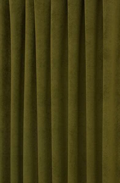 Hilton Velvet Curtains In Olive Green