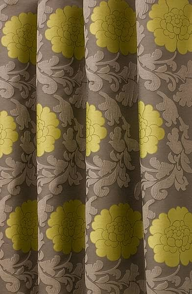 Lugano Chartreuse Curtain Fabric