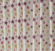 Funky Star Purple Made To Measure Curtains