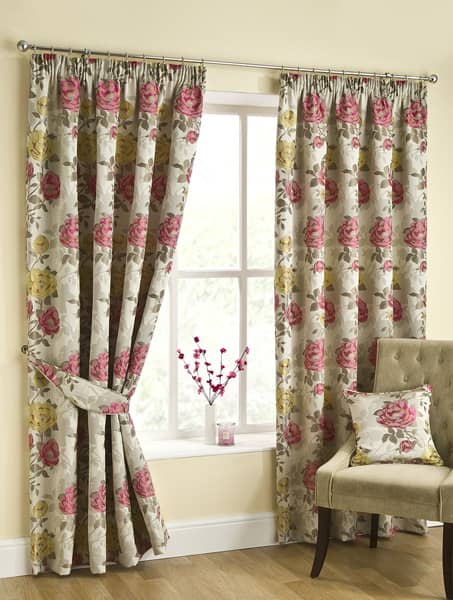 Emily Pink Ready Made Curtains