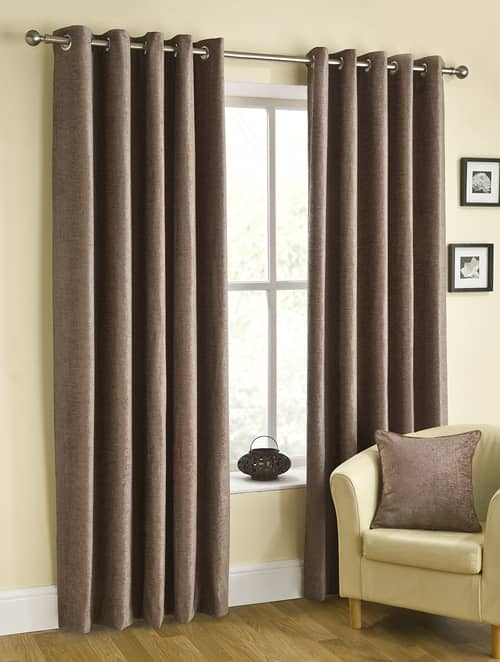 Rico Eyelet Mink Ready Made Curtains
