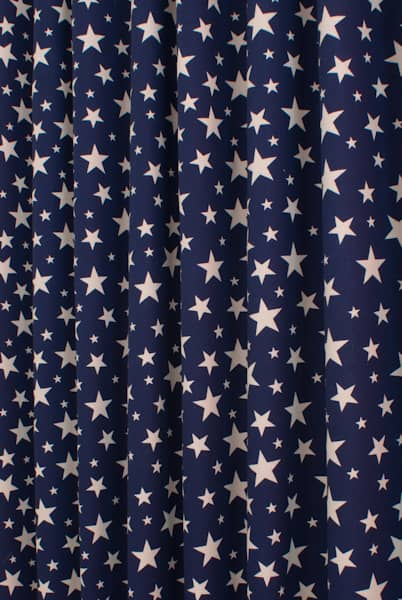 Apollo Stars Navy Blue Curtain Fabric