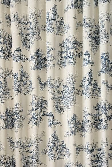 Toile Blue Made To Measure Curtains