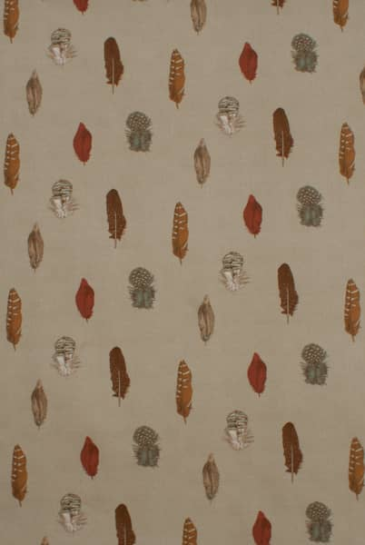 Feather Linen Curtain Fabric