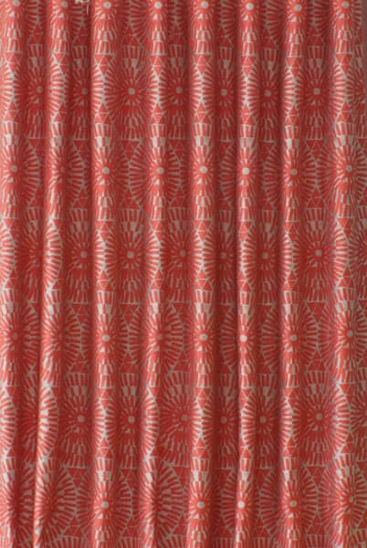 Coral curtain fabric