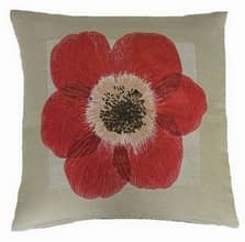 Poppy Red Cushion
