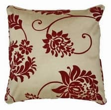 Damask Red Cushion