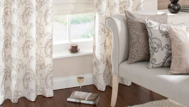 ready Made Curtains - shortening service available on ready made curtains