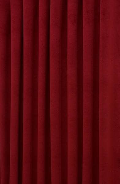 Hilton Velvet Cherry Red Made To Measure Curtains