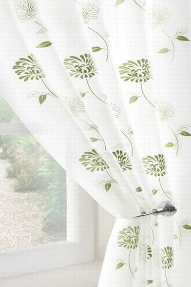 Carnation Voile Green panels Voiles & Voile Panels