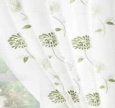 Carnation Voile - Green panels