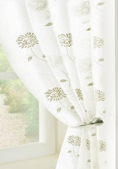 Carnation Voile Cream panels Voiles & Voile Panels