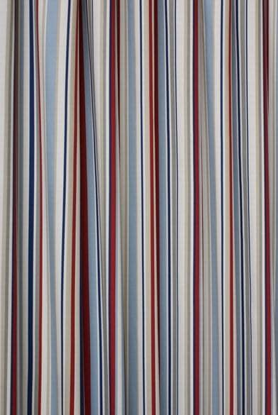 funky stripe blue made to measure curtains. Black Bedroom Furniture Sets. Home Design Ideas