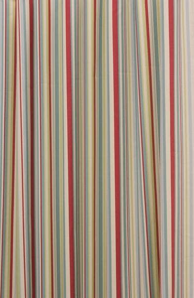 Funky Stripe Duck Egg - Curtain Fabric