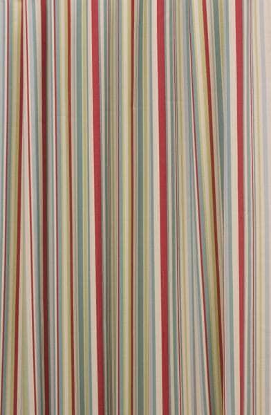 Funky Stripe Duck Egg Curtain Fabric