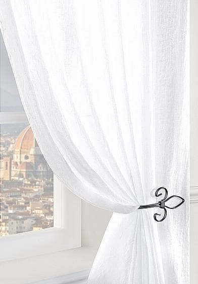 Crushed White panels Voiles & Voile Panels