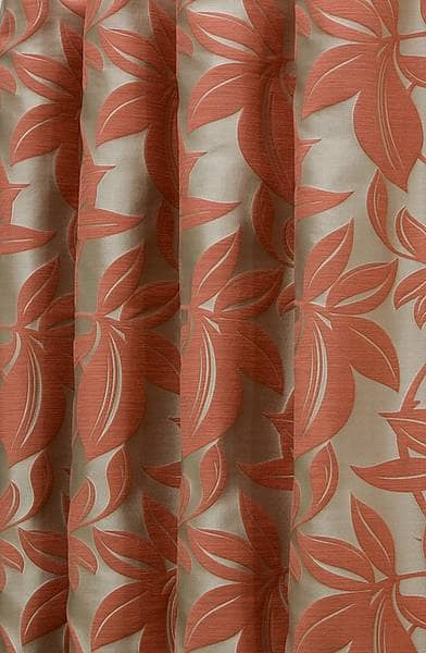 Viganello Burnt Orange Curtain Fabric