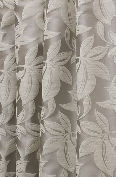 Viganello Silver White Curtain Fabric
