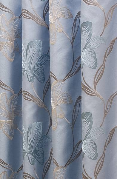 Melano Powder Blue Curtain Fabric