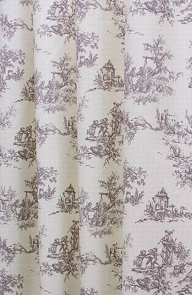 Toile Grey Made To Measure Curtains