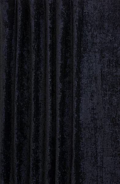 Luxor Black Curtain Fabric