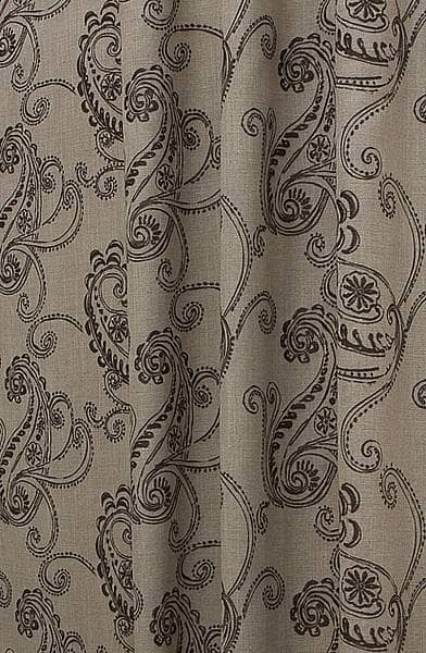 Vitoria Shale Curtain Fabric