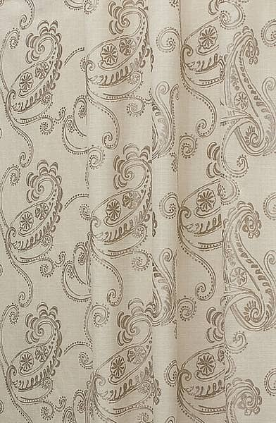 Vitoria Oyster Curtain Fabric