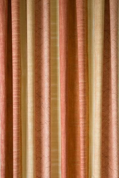 Caprice Terracotta Curtain Fabric