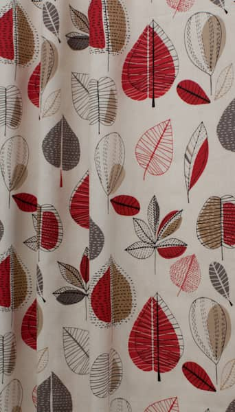 Maple Red Berry Made to Measure Curtains