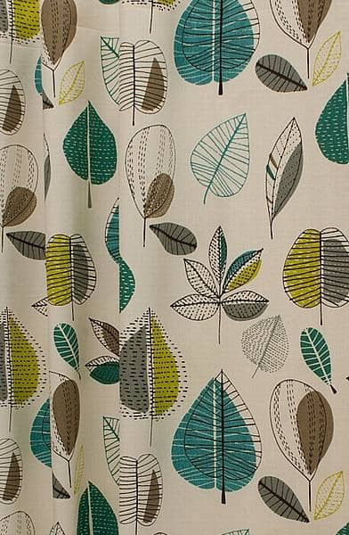 Maple Teal Curtain Fabric