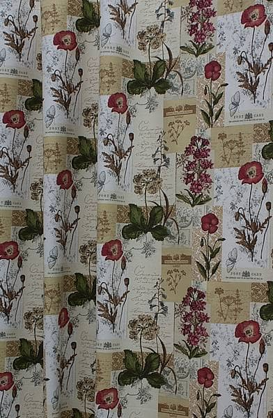 Wild Flower Cinnamon Made to Measure Curtains