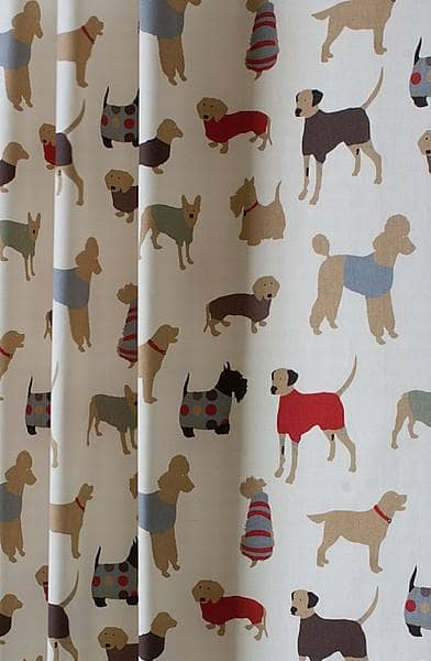 Curtains Ideas best curtain fabric : Mans Best Friend Cinnamon - Curtain Fabric