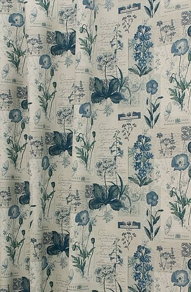 Wild Flower Denim Made to Measure Curtains