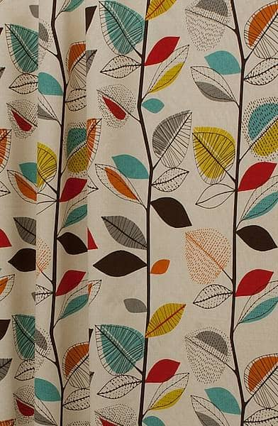 Autumn Leaves Cinnamon Made To Measure Curtains
