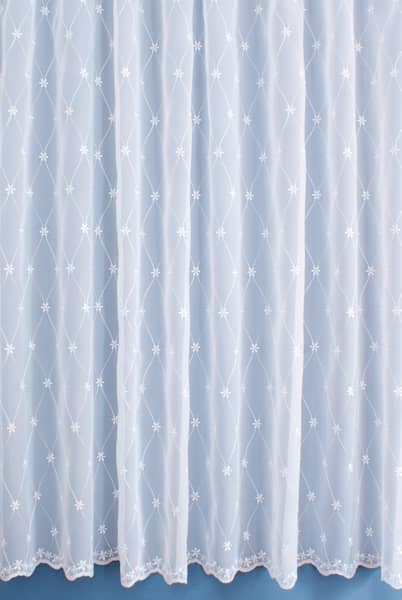 Buxton White Net Curtains