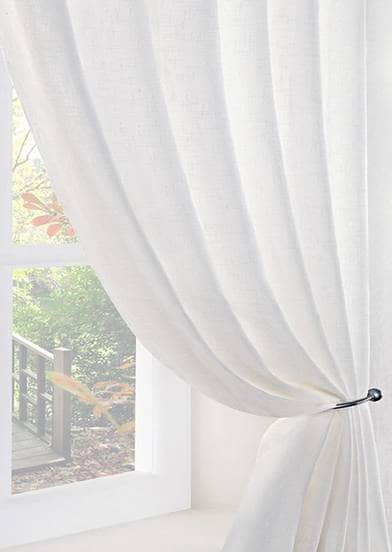 Boucle White Voiles & Voile Panels