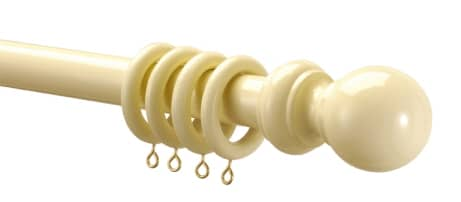 28 mm Wooden Pole Cream Curtain Poles
