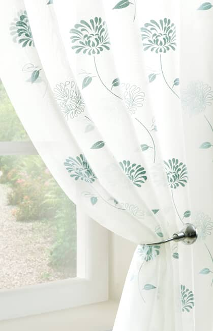 Carnation Voile Aqua by the metre Voile by the metre