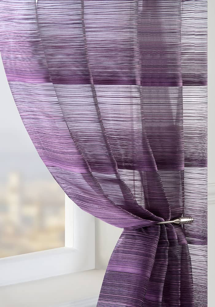 Strata Aubergine by the metre Voile by the metre