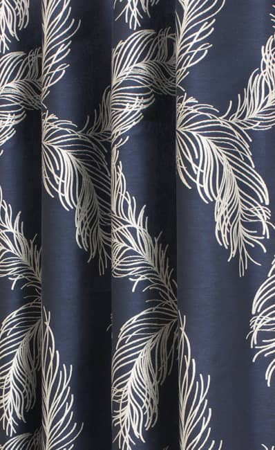 Plume Indigo Roman Blinds