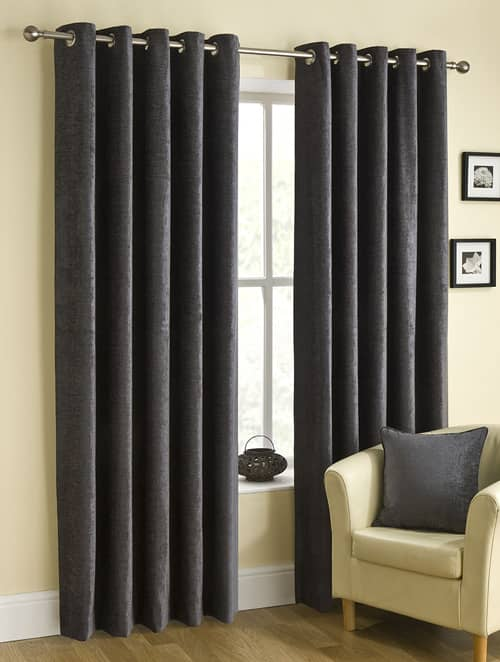 Rico Eyelet Pewter Ready Made Curtains