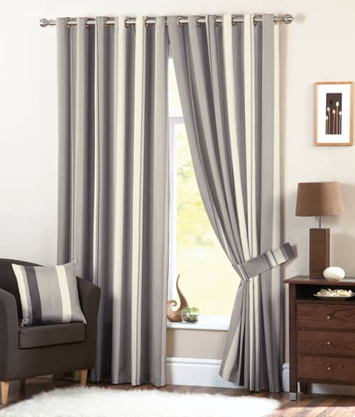 Whitworth Charcoal - Ready Made Curtains
