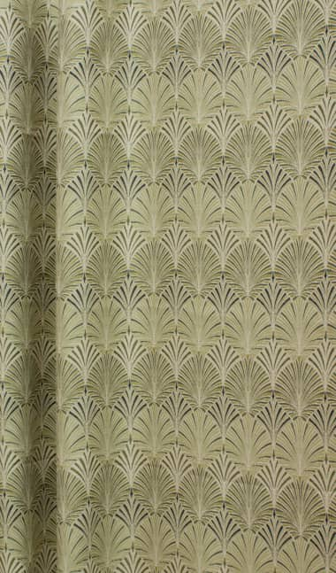 Hallington Lime Curtain Fabric