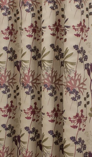 Thornton Cranberry - Curtain Fabric