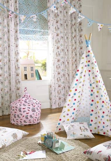 Wondercrump Spot Multi Curtain Fabric