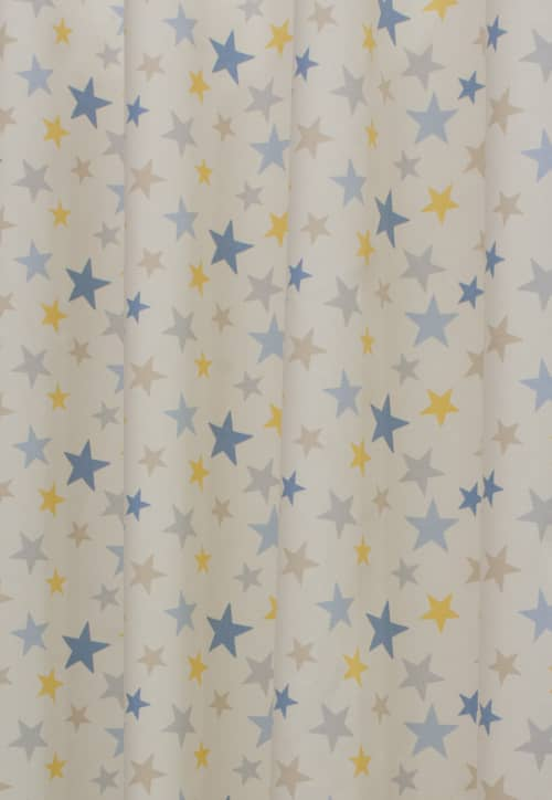 Funky star lemon made to measure curtains for Star material for curtains