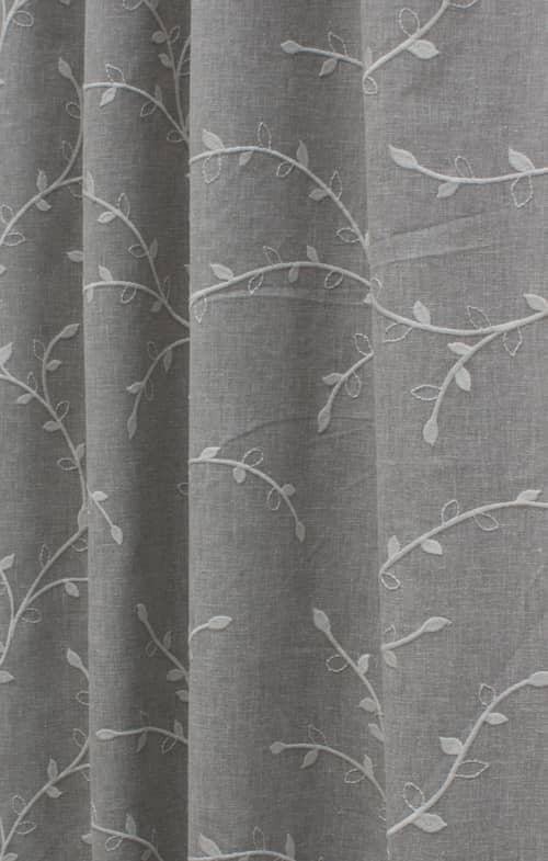 Delicate Silver Grey Curtain Fabric
