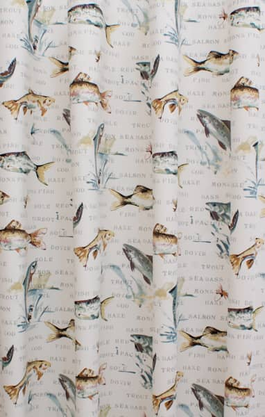 Fly Fishing Slate Curtain Fabric