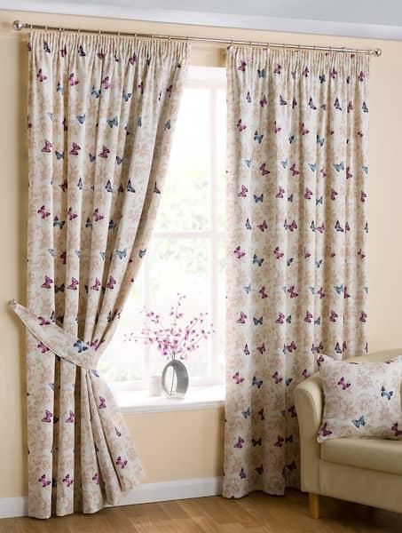 Mariposa Mauve Ready Made Curtains